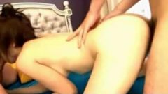 Two Guys Ejaculates Inside Squiring Japanese Teen