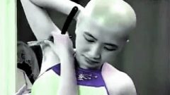 Armpits Hair Of Perfect Thai Girl Shaved By Straight Razor.