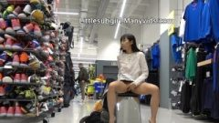 Daring Thai Get Busted By The Man Behind Her While Squirting And Get Anal!