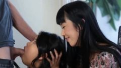 Thai Mom Oversees Teenage Daughter Sucking Cock Off New Lodger