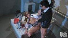 Filthy Thai Ginger Jayden Lee Rides Her Boss's Cock At Work