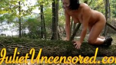 Funny Japanese Crawling Naked On A Tree To Get The Shot