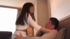 Massage Nippon Chick Having Attractive Body Stretching Massage