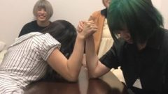 Nippon Chick Muscular Doing Arm Scuffling
