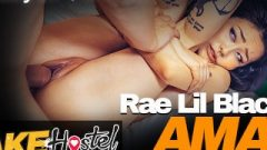 Fake Hostel Asian Honey Rae Lil Chocolate Destroyed Rough In Front Of Her Buddy