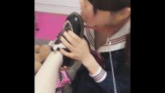 Chinese Lesbo Foot Devotion
