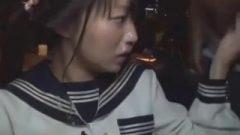 Nippon School-Girl And 4 Chocolate Dicks