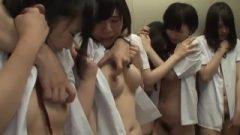 Older Guy In Elevator Harasses 10 Asian School-girls