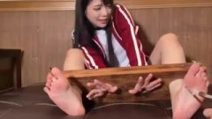 Asian Female Stock Caressing
