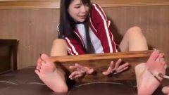Asian Female Stock Caressing